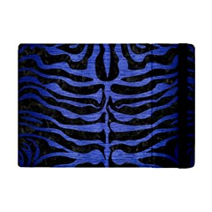 Skin2 Black Marble & Blue Brushed Metal Apple Ipad Mini 2 Flip Case by trendistuff