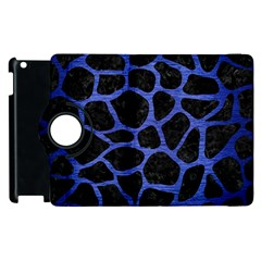 Skin1 Black Marble & Blue Brushed Metal (r) Apple Ipad 2 Flip 360 Case by trendistuff