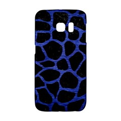 Skin1 Black Marble & Blue Brushed Metal (r) Samsung Galaxy S6 Edge Hardshell Case by trendistuff