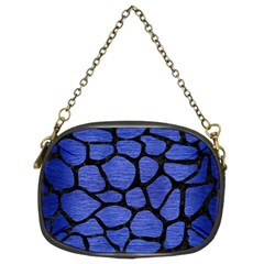 Skin1 Black Marble & Blue Brushed Metal Chain Purse (two Sides) by trendistuff