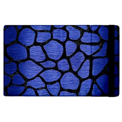 Skin1 Black Marble & Blue Brushed Metal Apple Ipad 2 Flip Case by trendistuff