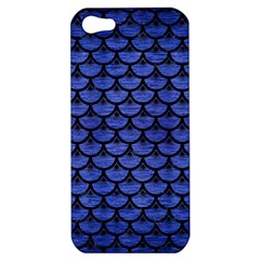 Scales3 Black Marble & Blue Brushed Metal (r) Apple Iphone 5 Hardshell Case by trendistuff