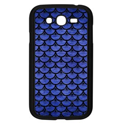 Scales3 Black Marble & Blue Brushed Metal (r) Samsung Galaxy Grand Duos I9082 Case (black) by trendistuff