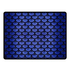 Scales3 Black Marble & Blue Brushed Metal (r) Double Sided Fleece Blanket (small) by trendistuff