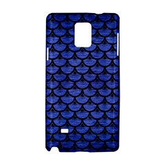 Scales3 Black Marble & Blue Brushed Metal (r) Samsung Galaxy Note 4 Hardshell Case by trendistuff