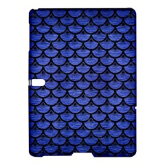 Scales3 Black Marble & Blue Brushed Metal (r) Samsung Galaxy Tab S (10 5 ) Hardshell Case  by trendistuff