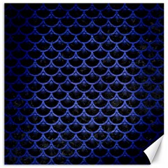Scales3 Black Marble & Blue Brushed Metal Canvas 20  X 20  by trendistuff