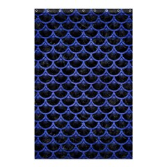 Scales3 Black Marble & Blue Brushed Metal Shower Curtain 48  X 72  (small) by trendistuff