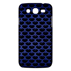 Scales3 Black Marble & Blue Brushed Metal Samsung Galaxy Mega 5 8 I9152 Hardshell Case  by trendistuff