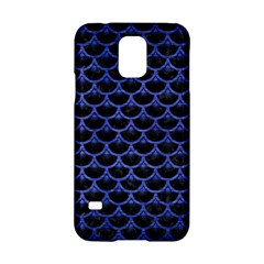 Scales3 Black Marble & Blue Brushed Metal Samsung Galaxy S5 Hardshell Case  by trendistuff