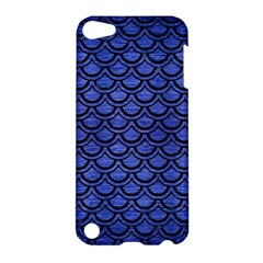 Scales2 Black Marble & Blue Brushed Metal (r) Apple Ipod Touch 5 Hardshell Case by trendistuff