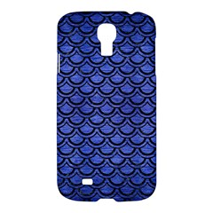 Scales2 Black Marble & Blue Brushed Metal (r) Samsung Galaxy S4 I9500/i9505 Hardshell Case by trendistuff