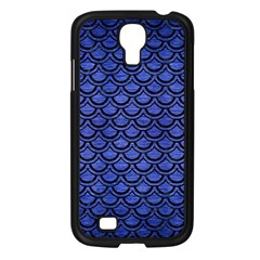 Scales2 Black Marble & Blue Brushed Metal (r) Samsung Galaxy S4 I9500/ I9505 Case (black) by trendistuff