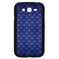 Scales2 Black Marble & Blue Brushed Metal (r) Samsung Galaxy Grand Duos I9082 Case (black) by trendistuff