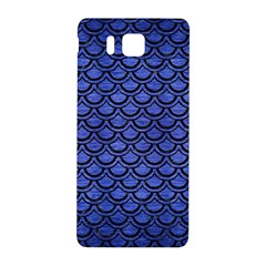 Scales2 Black Marble & Blue Brushed Metal (r) Samsung Galaxy Alpha Hardshell Back Case by trendistuff