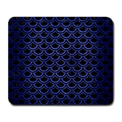 Scales2 Black Marble & Blue Brushed Metal Large Mousepad by trendistuff
