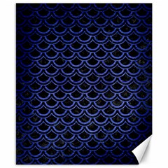 Scales2 Black Marble & Blue Brushed Metal Canvas 8  X 10  by trendistuff