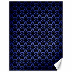 Scales2 Black Marble & Blue Brushed Metal Canvas 12  X 16  by trendistuff