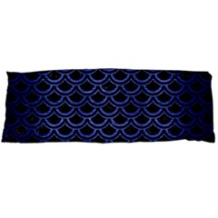 Scales2 Black Marble & Blue Brushed Metal Body Pillow Case (dakimakura) by trendistuff