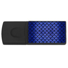 Scales1 Black Marble & Blue Brushed Metal (r) Usb Flash Drive Rectangular (4 Gb) by trendistuff