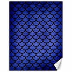 Scales1 Black Marble & Blue Brushed Metal (r) Canvas 18  X 24  by trendistuff