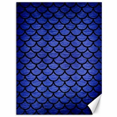 Scales1 Black Marble & Blue Brushed Metal (r) Canvas 36  X 48  by trendistuff