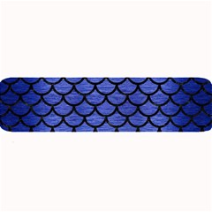 Scales1 Black Marble & Blue Brushed Metal (r) Large Bar Mat by trendistuff