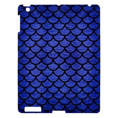 Scales1 Black Marble & Blue Brushed Metal (r) Apple Ipad 3/4 Hardshell Case by trendistuff