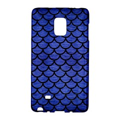 Scales1 Black Marble & Blue Brushed Metal (r) Samsung Galaxy Note Edge Hardshell Case by trendistuff