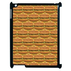 Delicious Burger Pattern Apple Ipad 2 Case (black) by berwies