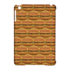 Delicious Burger Pattern Apple Ipad Mini Hardshell Case (compatible With Smart Cover) by berwies