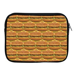Delicious Burger Pattern Apple Ipad 2/3/4 Zipper Cases by berwies