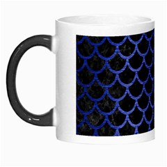 Scales1 Black Marble & Blue Brushed Metal Morph Mug by trendistuff