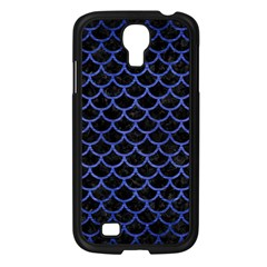 Scales1 Black Marble & Blue Brushed Metal Samsung Galaxy S4 I9500/ I9505 Case (black) by trendistuff