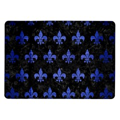 Royal1 Black Marble & Blue Brushed Metal (r) Samsung Galaxy Tab 10 1  P7500 Flip Case by trendistuff