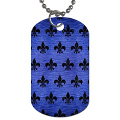 Royal1 Black Marble & Blue Brushed Metal Dog Tag (two Sides) by trendistuff