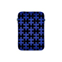 Puzzle1 Black Marble & Blue Brushed Metal Apple Ipad Mini Protective Soft Case by trendistuff