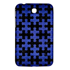Puzzle1 Black Marble & Blue Brushed Metal Samsung Galaxy Tab 3 (7 ) P3200 Hardshell Case  by trendistuff
