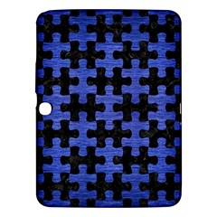Puzzle1 Black Marble & Blue Brushed Metal Samsung Galaxy Tab 3 (10 1 ) P5200 Hardshell Case  by trendistuff