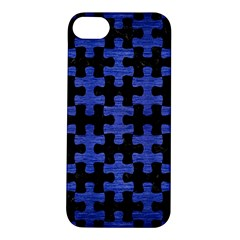 Puzzle1 Black Marble & Blue Brushed Metal Apple Iphone 5s/ Se Hardshell Case by trendistuff