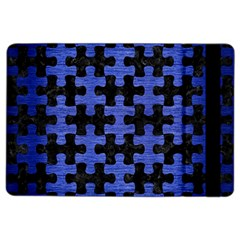 Puzzle1 Black Marble & Blue Brushed Metal Apple Ipad Air 2 Flip Case by trendistuff