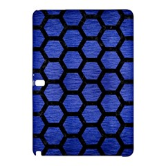 Hexagon2 Black Marble & Blue Brushed Metal (r) Samsung Galaxy Tab Pro 10 1 Hardshell Case by trendistuff