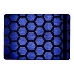Hexagon2 Black Marble & Blue Brushed Metal (r) Samsung Galaxy Tab Pro 10 1  Flip Case by trendistuff