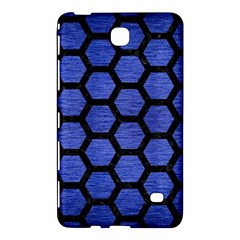 Hexagon2 Black Marble & Blue Brushed Metal (r) Samsung Galaxy Tab 4 (8 ) Hardshell Case  by trendistuff