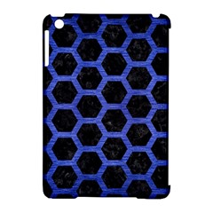 Hexagon2 Black Marble & Blue Brushed Metal Apple Ipad Mini Hardshell Case (compatible With Smart Cover) by trendistuff