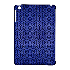 Hexagon1 Black Marble & Blue Brushed Metal (r) Apple Ipad Mini Hardshell Case (compatible With Smart Cover) by trendistuff