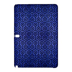 Hexagon1 Black Marble & Blue Brushed Metal (r) Samsung Galaxy Tab Pro 12 2 Hardshell Case by trendistuff