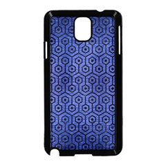 Hexagon1 Black Marble & Blue Brushed Metal (r) Samsung Galaxy Note 3 Neo Hardshell Case (black) by trendistuff