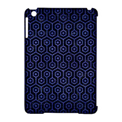 Hexagon1 Black Marble & Blue Brushed Metal Apple Ipad Mini Hardshell Case (compatible With Smart Cover) by trendistuff