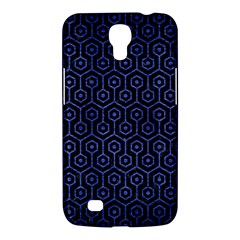 Hexagon1 Black Marble & Blue Brushed Metal Samsung Galaxy Mega 6 3  I9200 Hardshell Case by trendistuff